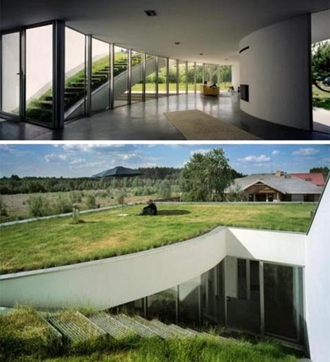 10 ngôi nhà lý tưởng nằm trong lòng đất