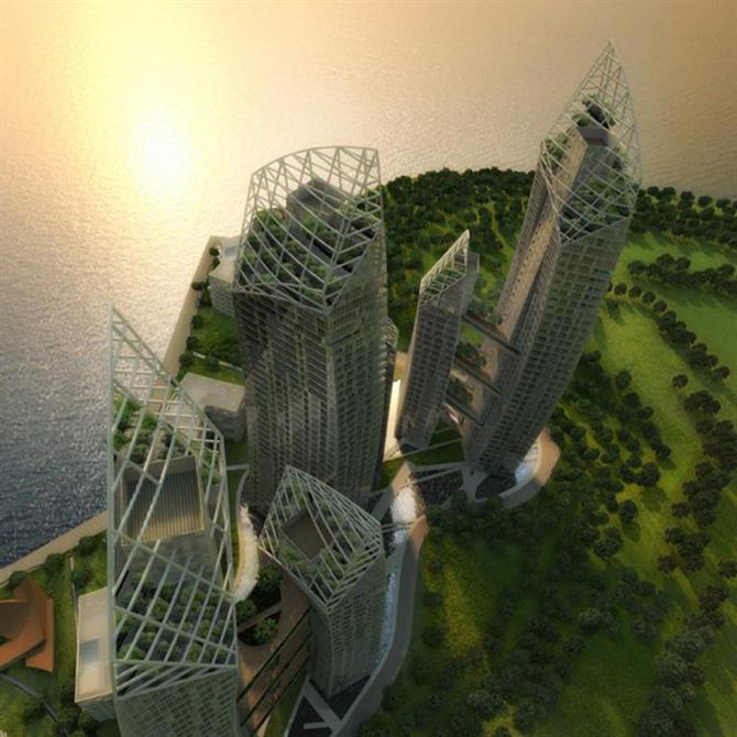 Những tòa tháp cong độc đáo