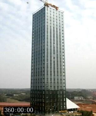 Xem thợ Trung Quốc xây khách sạn 30 tầng chỉ trong 15 ngày