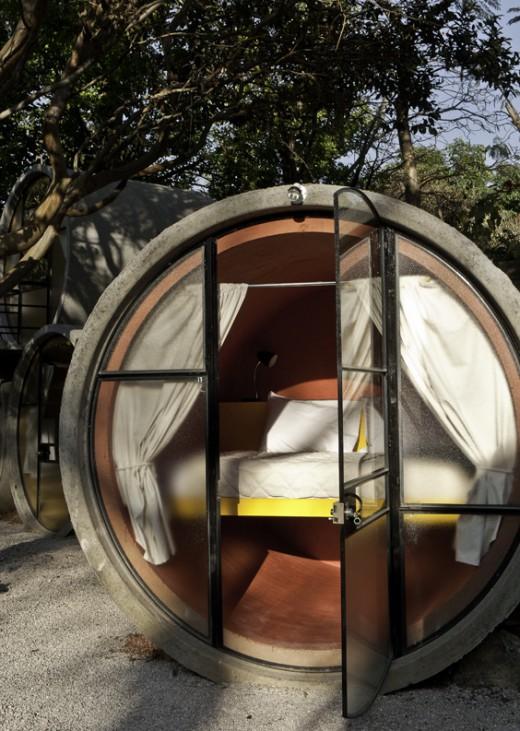 Khách sạn trong ống cống siêu kool ở Mexico