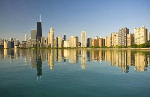 Thành phố của cao ốc và màu xanh