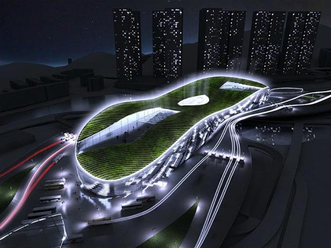 Tòa nhà xanh qua sông Thâm Quyến