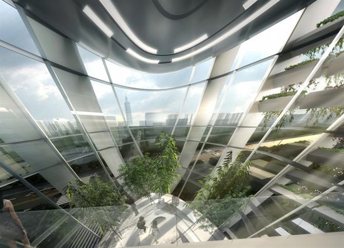 Độc đáo với tháp văn phòng ở Đài Bắc
