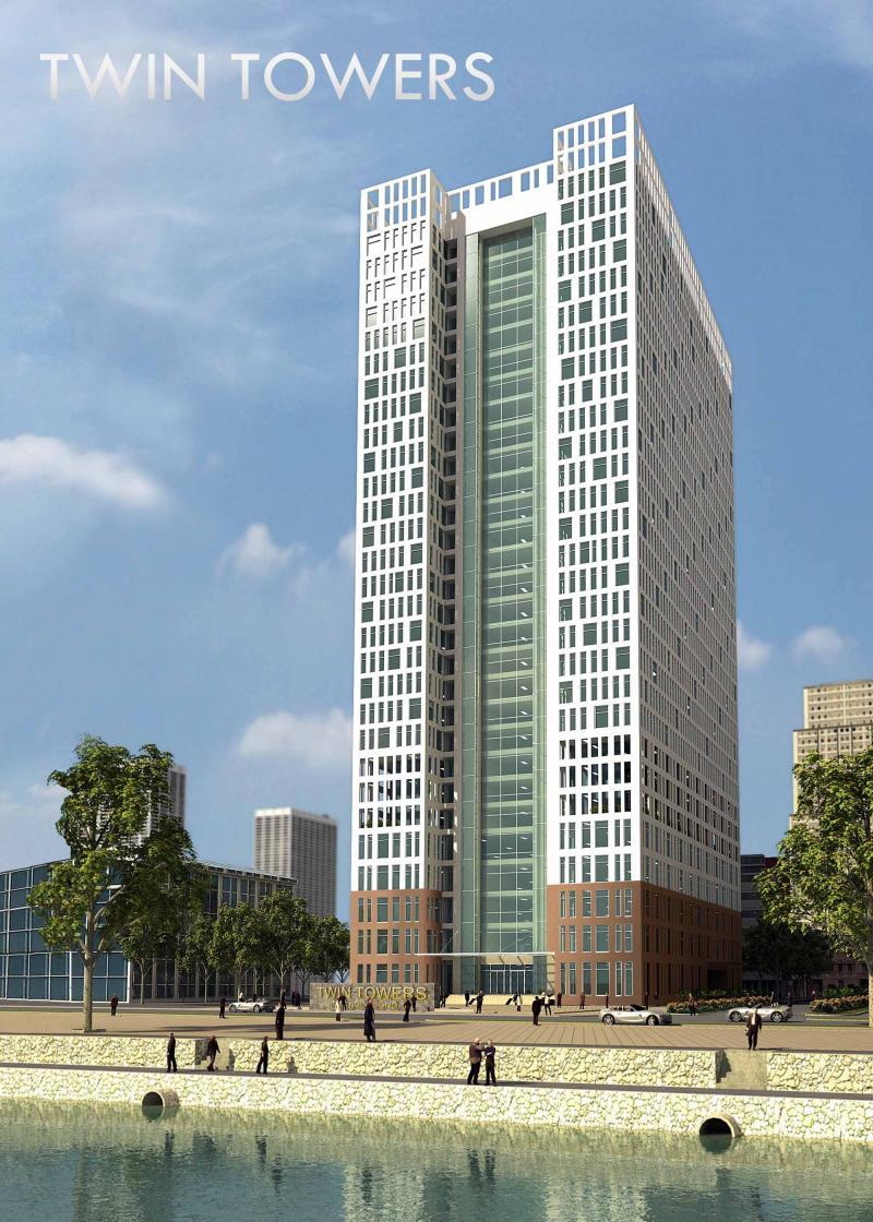 Twin%20Towers%20 tongthe Tổng quan và quy mô Twin Towers: Khu căn hộ cao cấp bên dòng Tô Lịch