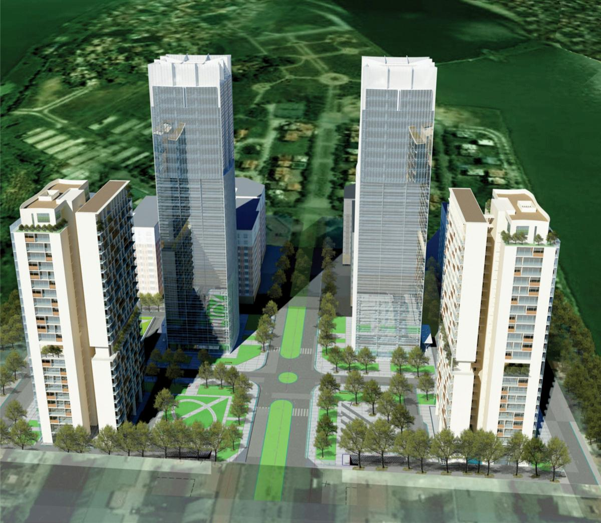 Central%20Linhdam%20Plaza Tổng quan và quy mô Central Linhdam Plaza: Cao ốc văn phòng   Căn hộ cao cấp tại bán đảo Linh Đàm