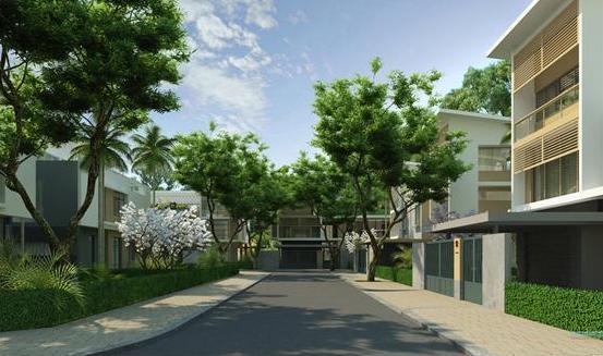 Khu dân cư C.T.C: Chung cư, biệt thự Hoa Anh Đào