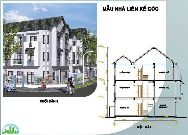 Tổng quan và quy mô khu nhà liên kế Đất Việt: Không gian nhà Việt