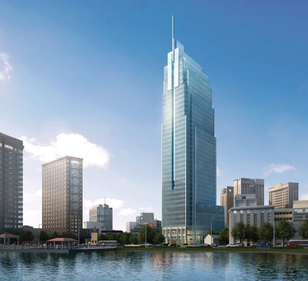 VietcombankTower 1 Tổng quan và quy mô Vietcombank Tower: Cao ốc văn phòng hạng A nơi trung tâm Thành phố