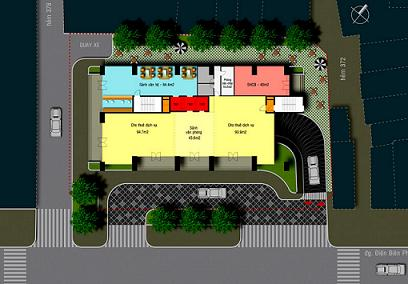 Tổng quan và quy mô cao ốc văn phòng và căn hộ dịch vụ Tie Tower