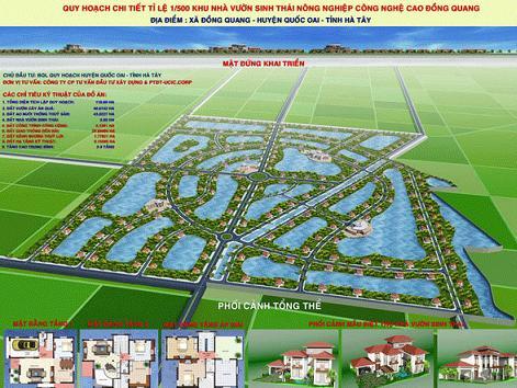 Tổng quan và quy mô khu nhà vườn sinh thái Đồng Quang: Hương đồng gió nội