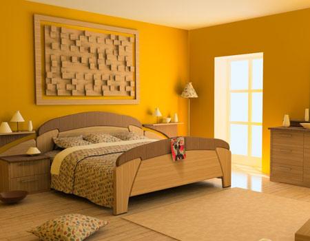 Sắc vàng giúp căn phòng ấm áp hơn
