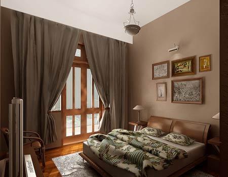 Rèm cửa tạo nét kín đáo cho căn phòng