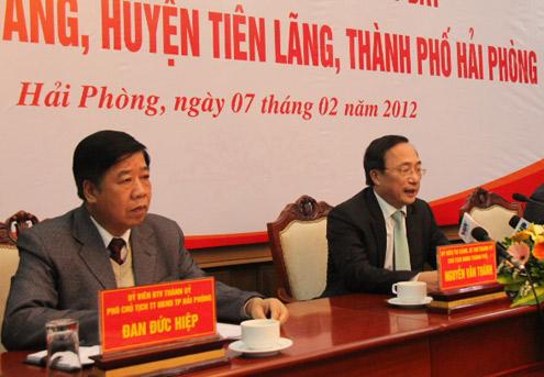 Hàng loạt lãnh đạo huyện Tiên Lãng bị đình chỉ công tác