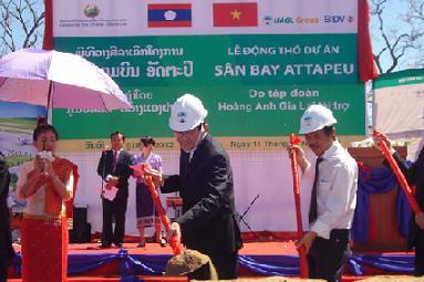 Hoàng Anh Gia Lai: Khởi công dự án sân bay quốc tế Attapeu