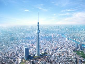 Sky Tree: Tòa tháp cao thứ 2 thế giới sắp hoàn thành