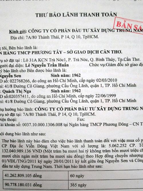 """Vụ mua bán CP Viễn Đông Land: Ngân hàng tiếp tay """"xù nợ"""" DN?"""