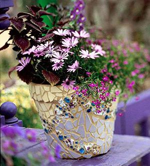Mang vẻ đẹp mosaic vào vườn nhà