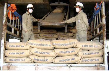 Sản lượng xi măng quý 1/2012 đạt 12,1 triệu tấn
