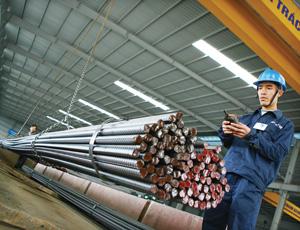Thị trường sắt thép, xi măng hưởng lợi