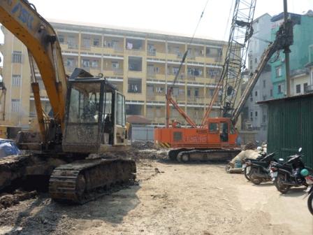 Dự án xây dựng Tòa nhà hỗn hợp tháp doanh nhân Khởi công dự án khi chưa được cấp phép xây dựng