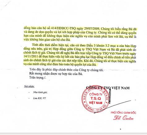 TSQ tiếp tục ép Làng Việt kiều nộp tiền chênh lệch tỷ giá