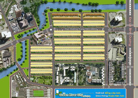 Sắp mở bán nhà phố thương mại The Green River City