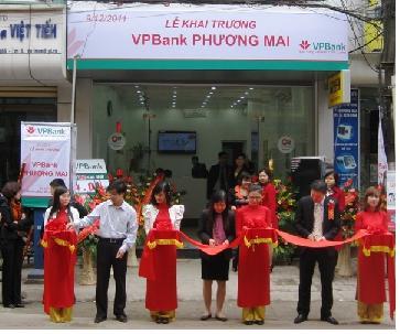 VPBank: Khai trương chi nhánh tại Huế, Hà Nội
