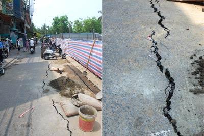 Đà Nẵng: Lại thêm một công trình xây dựng gây sụt lún khu dân cư
