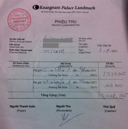 Keangnam tiếp tục thu phí khủng bất chấp xử phạt của Sở Tài chính