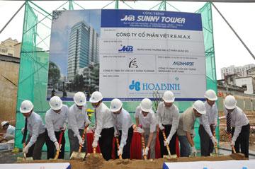 Hòa Bình: Khởi công dự án MB Sunny Tower