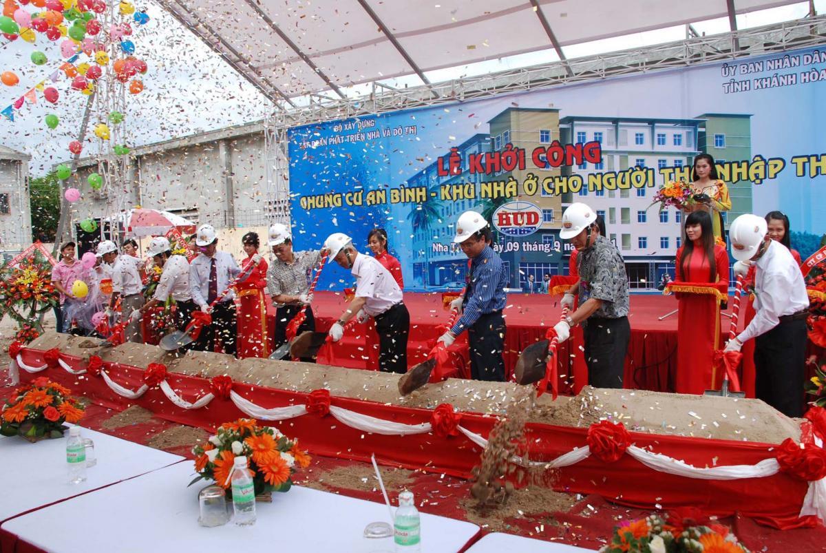 Khánh Hòa: Khởi công nhà thu nhập thấp An Bình