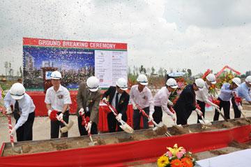 Địa ốc Hòa Bình: Khởi công công trình dự án Celadon City