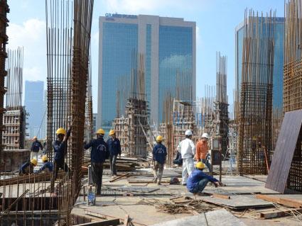 Sắp hoàn thành tầng 3 dự án Mandarin Garden