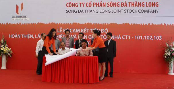 Sông Đà Thăng Long: Bàn giao Khu CT1 - Usilk City trong tháng 06/2012