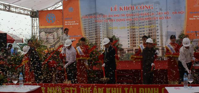 Khởi công xây dựng Khu tái định cư Xuân La, Hà Nội