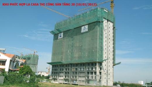 Thi công tầng 20 block 1A & 1B dự án Khu phức hợp La Casa