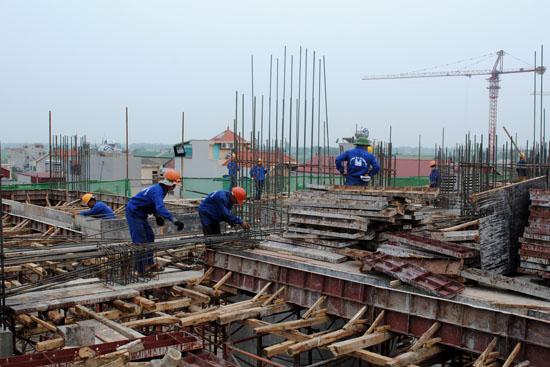 Dự án Golden Palace đã thi công đến sàn tầng 5