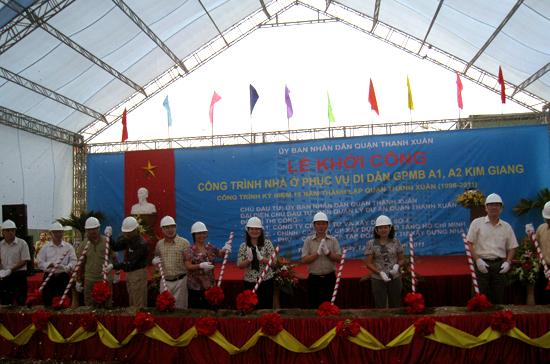 Hà Nội: Khởi công nhà tái định cư phường Kim Giang