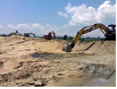 Giá cát xây dựng biến động mạnh