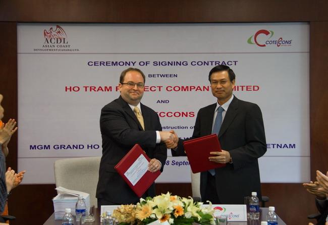 Coteccons: Trúng thầu triệu đô dự án nghỉ dưỡng Hồ Tràm Strip