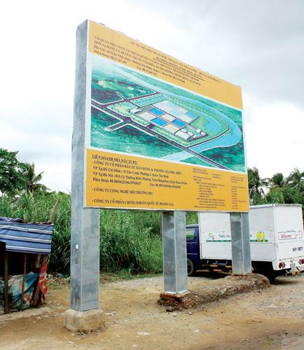 Dự án xử lý nước thải - Khuất tất quy hoạch