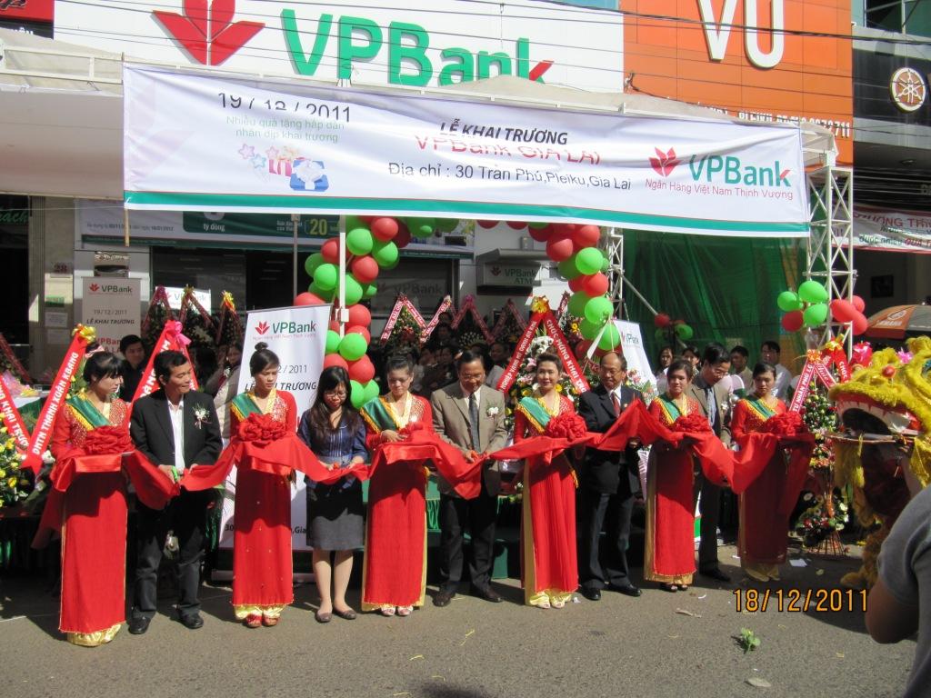 VPBank: Khai trương chi nhánh đầu tiên tại Pleiku