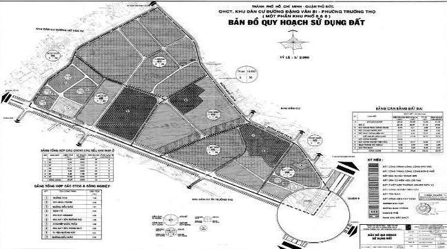 Duyệt nhiệm vụ điều chỉnh QHCT 1/2000 KDC đường Đặng Văn Bi