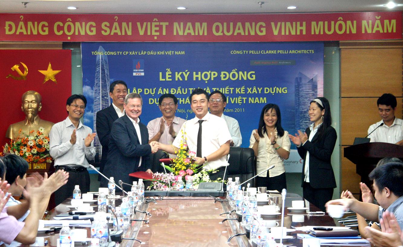 PVC: Ký hợp đồng lập dự án Tháp Dầu khí cao 79 tầng
