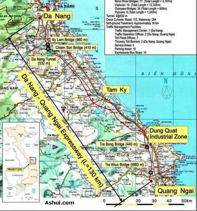Cuối năm 2011 sẽ khởi công đường cao tốc Đà Nẵng – Quảng Ngãi