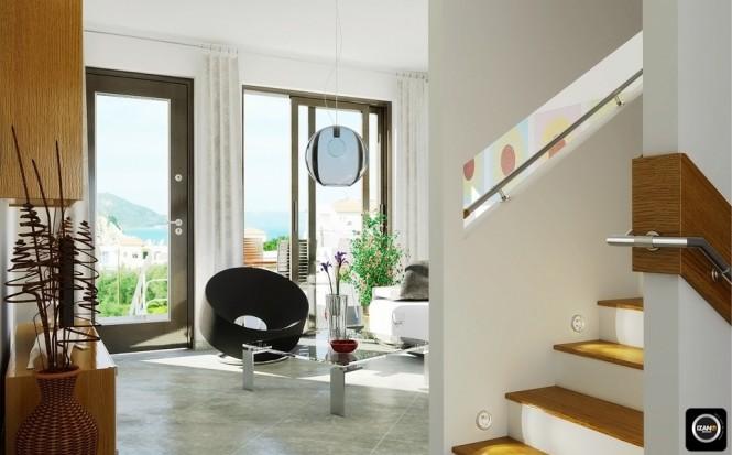 Không gian trắng độc đáo của phòng khách
