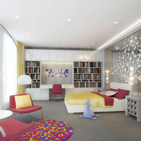 Những sắc màu vui nhộn cho phòng trẻ mùa hè