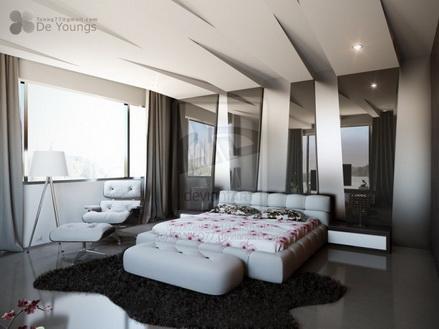 Sắc màu hiện đại của phòng ngủ