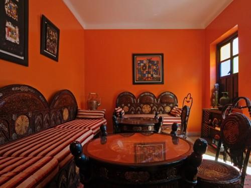 Phòng khách phong cách Ma rốc