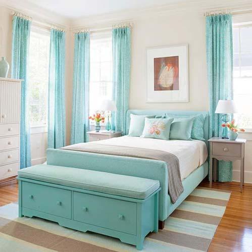 Phòng ngủ xinh xắn mùa đông